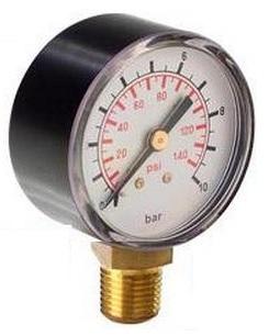 "Manometer do 10 barov s radiálnym vývodom 1/4"""